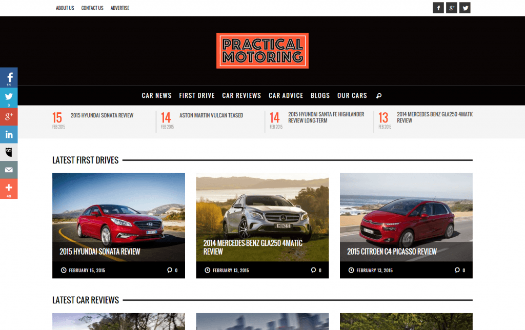 Practical Motoring – website by Blue Mountains Web Design