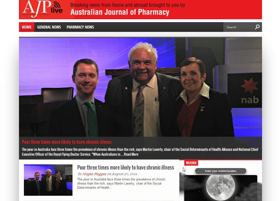 ajplive.com.au - Website by Blue Mountains Web Design