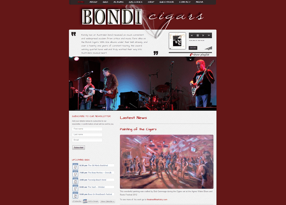 Bondi Cigars - Website by Blue Mountains Web Design