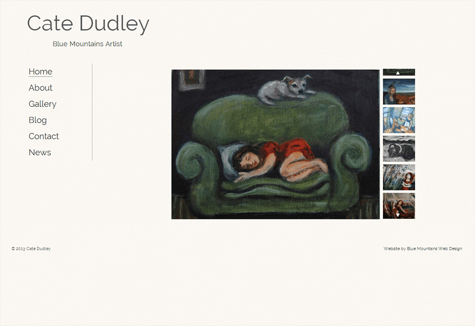 Cate Dudley – Website by Blue Mountains Web Design
