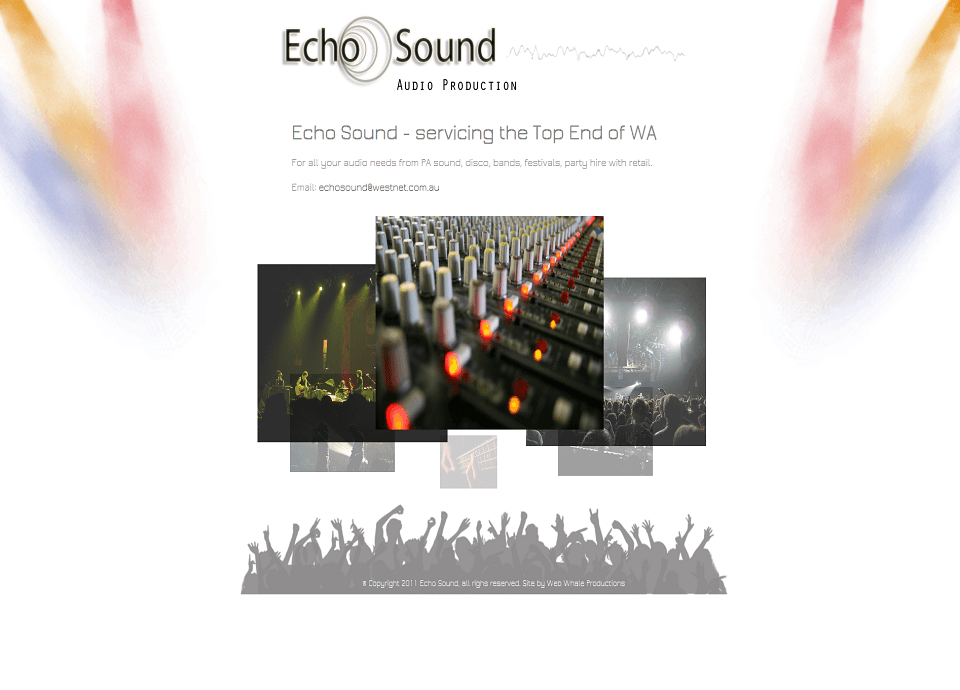 Echo Sound - Website by Blue Mountains Web Design