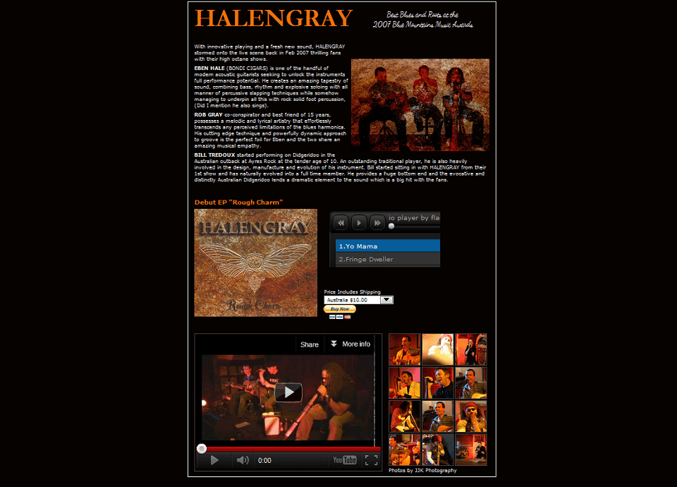 Halengray – Website by Blue Mountains Web Design