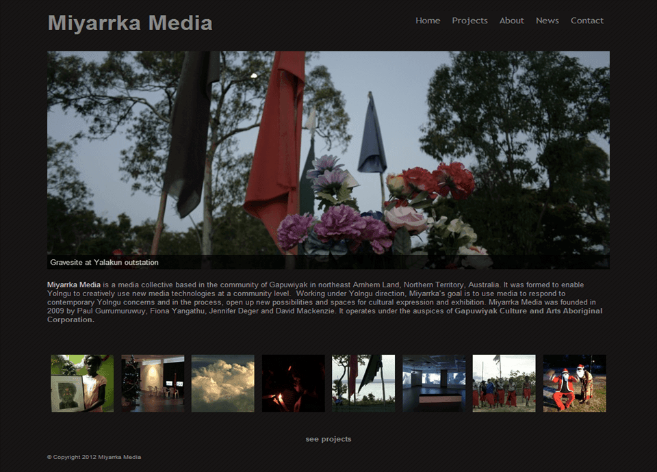 Miyarrka Media - Website by Blue Mountains Web Design