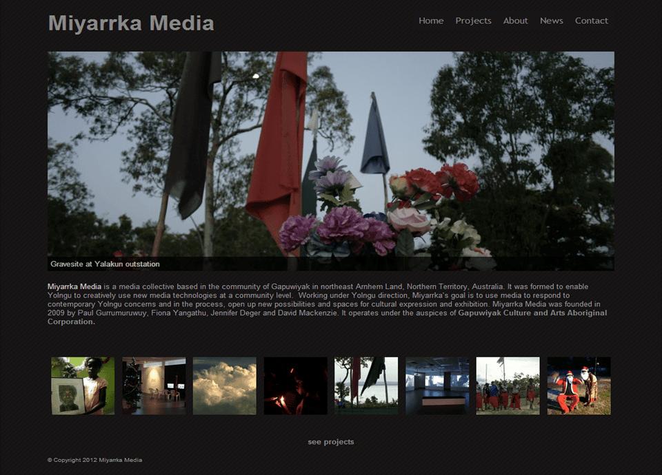 Miyarrka Media – Website by Blue Mountains Web Design