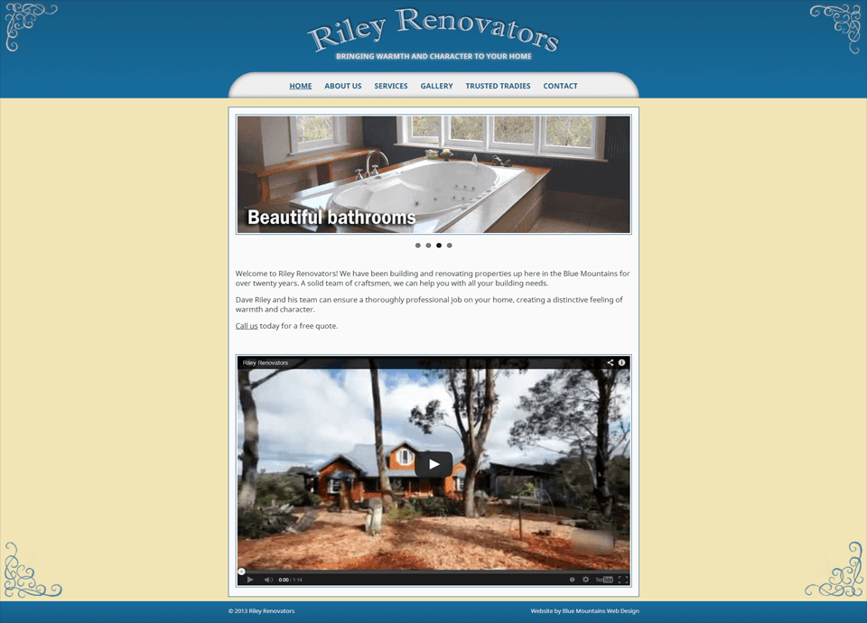 Rileys Renovators - Website by Blue Mountains Web Design
