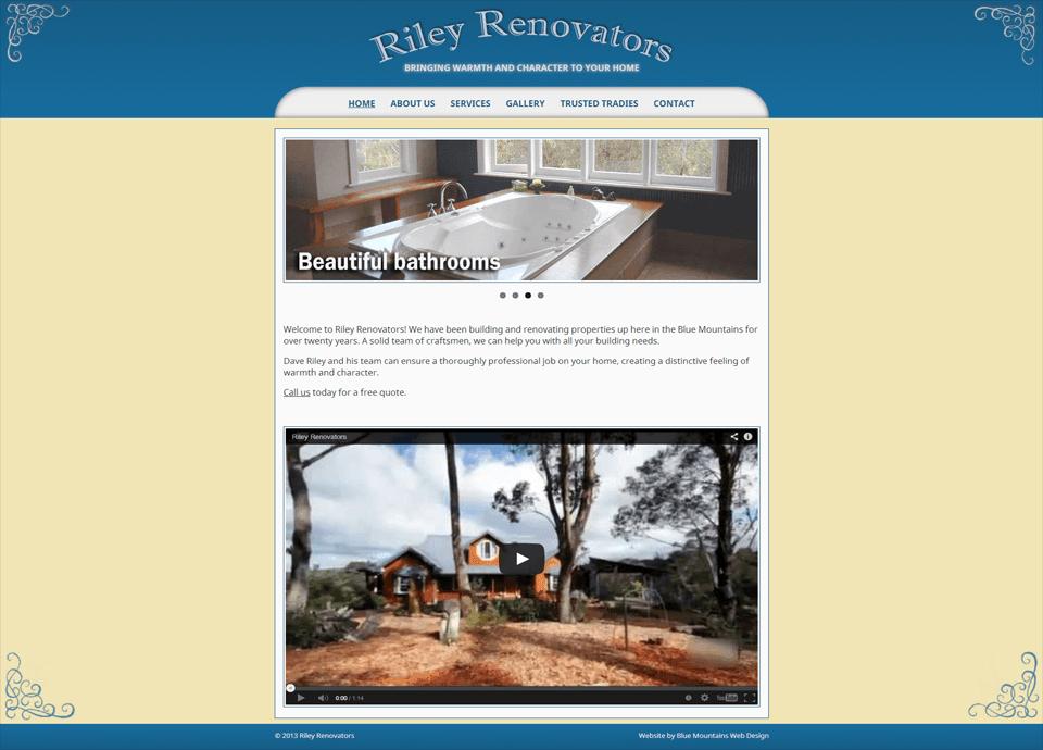 Rileys Renovators – Website by Blue Mountains Web Design