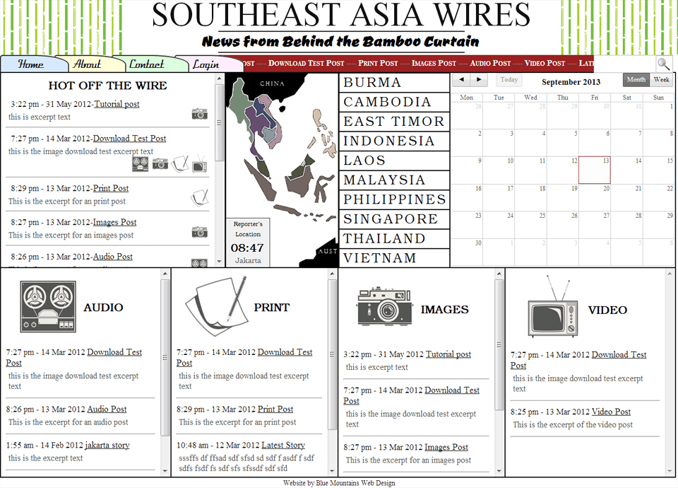 South East Asia Wires - Website by Blue Mountains Web Design