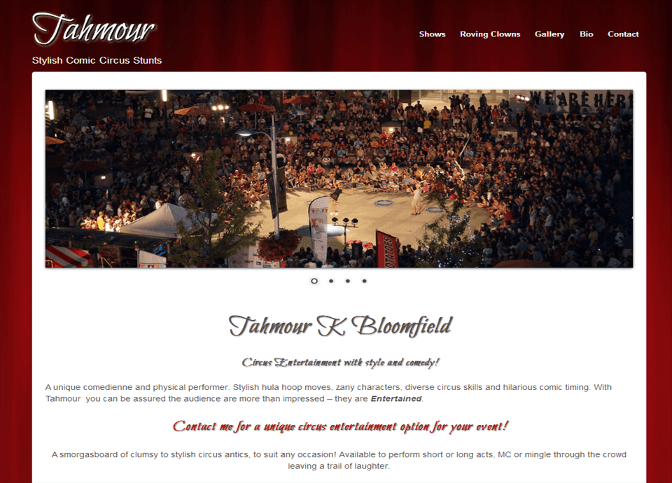 Tahmour - Website by Blue Mountains Web Design